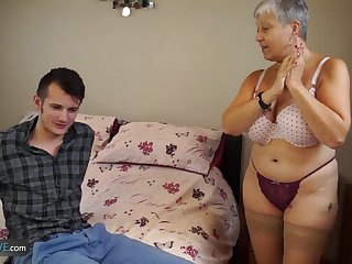 Mature chubby Christina and Sam Bourne..