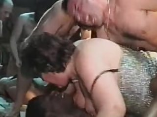 BBW mature gang bang