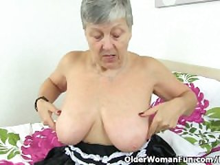 British granny Savana will serve all..