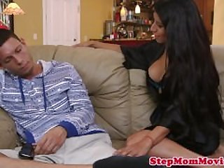 Stepmother tutoring on blowjobs her..