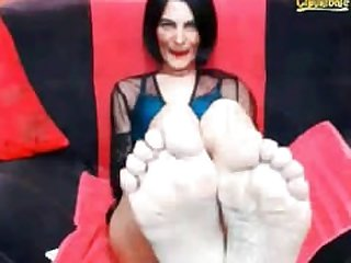 Country Greec Mif Show her soles Foot on..