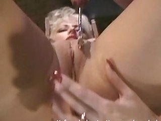 Blonde goddess makes her mistress happy..