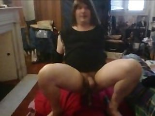 linda sucks her dildo masturbates and..