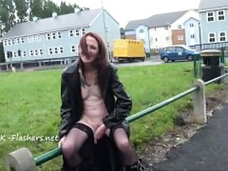 Old Brazens public flashing and daring..