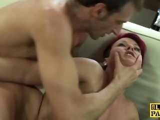 Redhead british sub roughly fucked