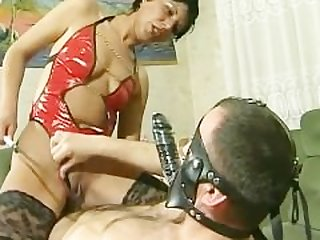 Mistress rides her slave's face