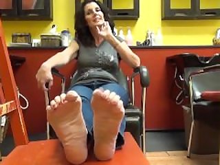 Mature Lady Big Feet