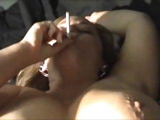Incext.com - Mom smokes while Son fucks