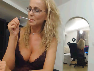 mature cam smoking