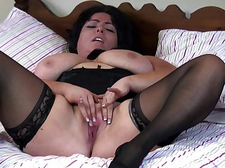Mother busty sweet and sexy in bed