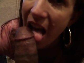 Hot mature brunette POV blowjob