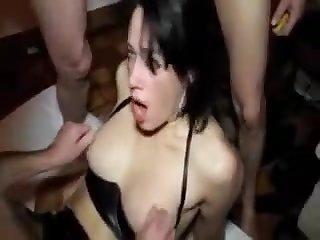 Adeline - French Gangbang Milf