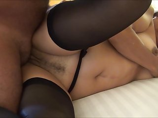 INTERNAL CUM IN LYNN WITH BLACK STOCKINGS