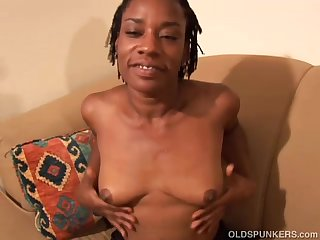 Cute black MILF wishes you were fucking..