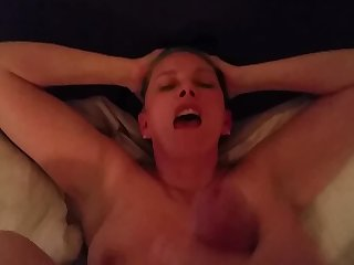49yr old MILF gets fucked and spunked on