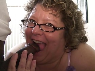Chubby Grandma Knows How To Suck Black..