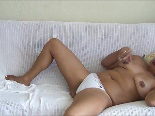 LYNN IN WHITE PANTY