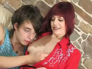 Mature Afina fucks and a young guy