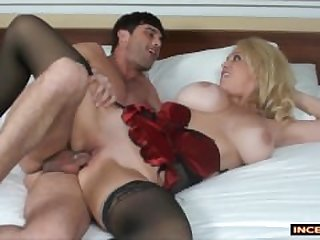 Step-mom fucks son for his brithday