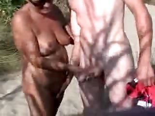 50 Years Old Wife With Young Boy In The..