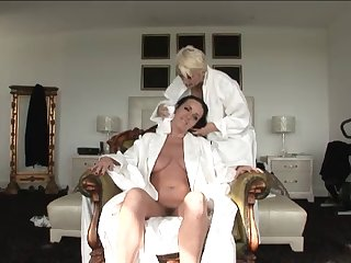 Mature Lesbian Seduces Her Friend -..