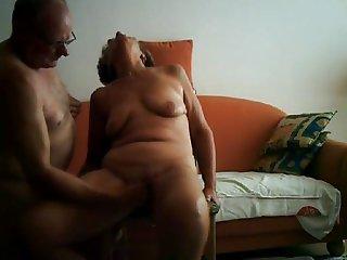 Big orgasm of a 64yo granny