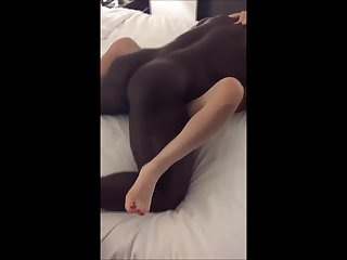 Guy watch a big black fucks his wife