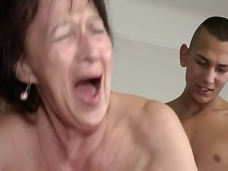 Granny Loves Young Boy's Balls and..