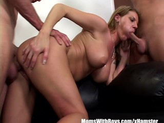 Angry Boss Kayla Quinn Fucks Two..