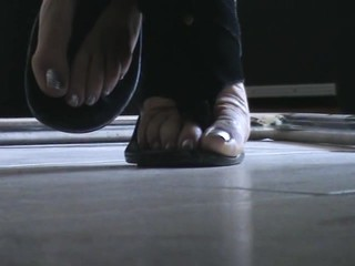 Friend's feet under the desk 4