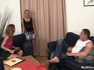 daughter watches husband fucking not her..