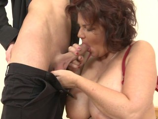 Hungry grannies fuck young sons