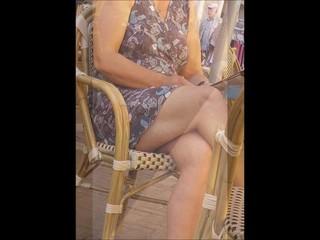 Mature showing legs