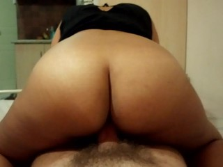 Big ass mature riding my cock
